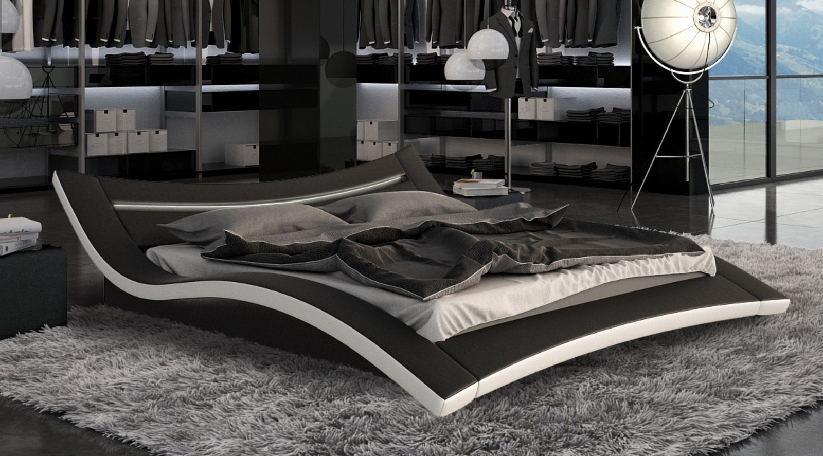 lovely lit 160x200 pas cher 10 lit moderne avec lumiere. Black Bedroom Furniture Sets. Home Design Ideas