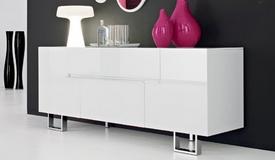 Bahut design laqué blanc - Elyt