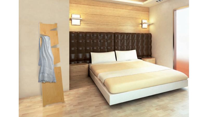 Porte manteaux moderne appuyer bohan en bois de bouleau for Porte manteau moderne