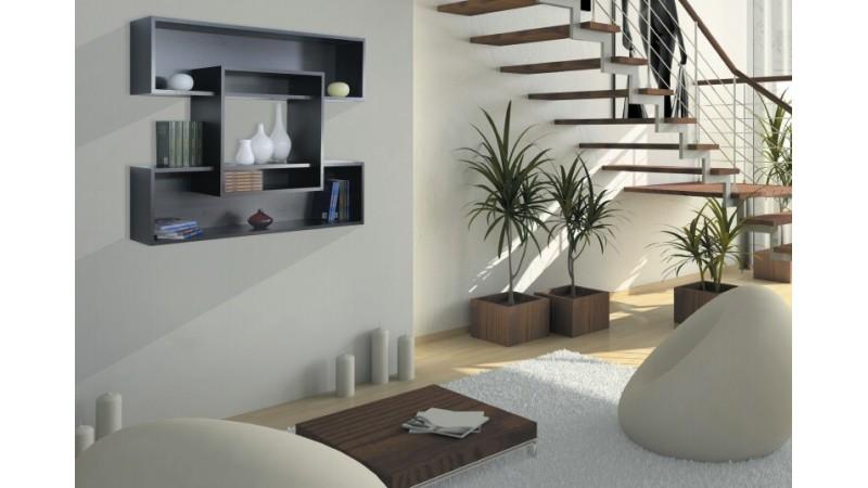 best biblioth que suspendue design contemporary. Black Bedroom Furniture Sets. Home Design Ideas