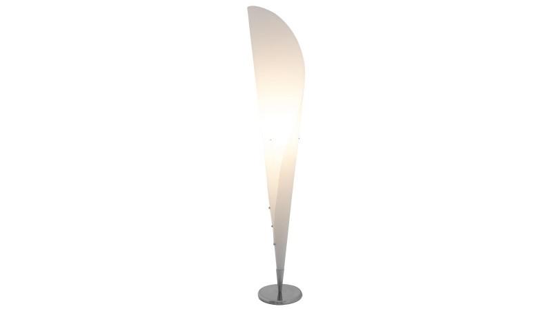 lampe sur pied moderne cornet en polypropyl ne blanc gdegdesign. Black Bedroom Furniture Sets. Home Design Ideas