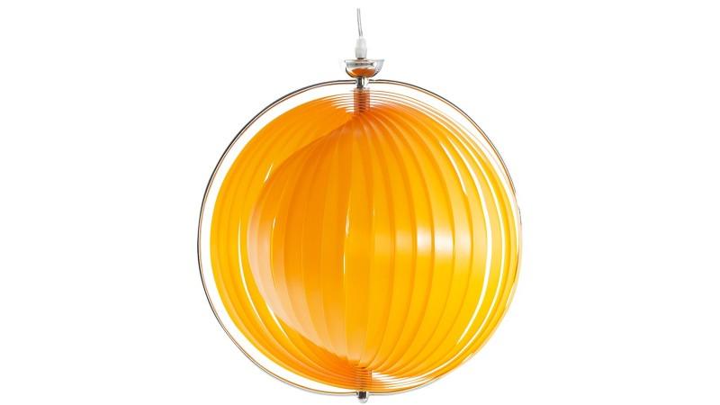 Suspension tendance ronde capri en plastique ou m tal chrom gdegdesign - Suspension contemporaine salon ...