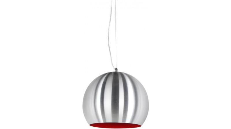 suspension ronde mogo en aluminium bross avec int rieur peint gdegdesign. Black Bedroom Furniture Sets. Home Design Ideas