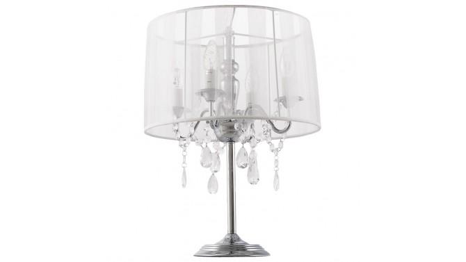 Lampe poser klassik jr baroque avec abat jour et pampilles gdegdesign for Lampe de chevet baroque