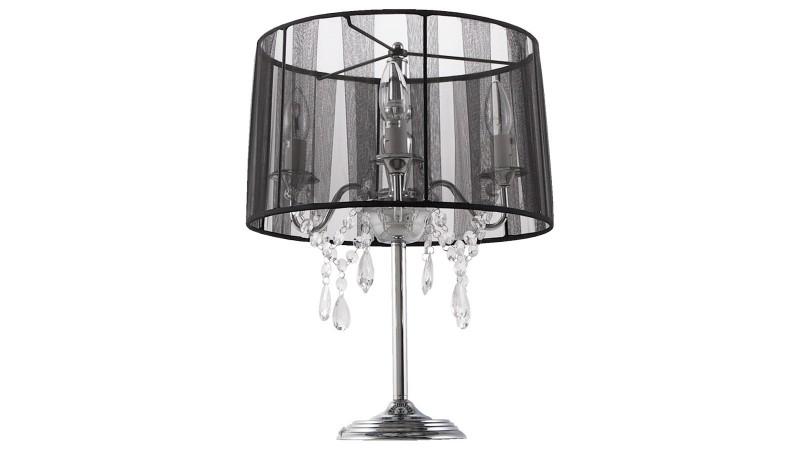 lampe poser klassik jr baroque avec abat jour et pampilles gdegdesign. Black Bedroom Furniture Sets. Home Design Ideas