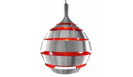 Lustre rétro design en aluminium brossé - AL Cosmo
