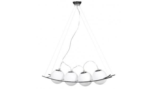 Suspension à 4 boules en verre blanc - Electro