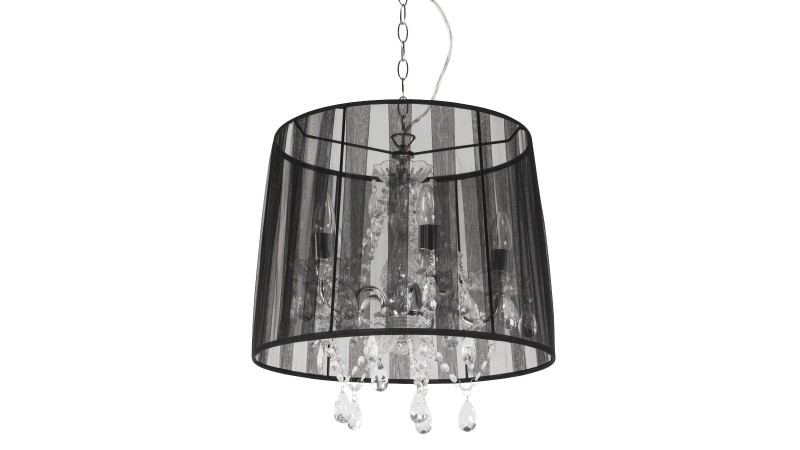 Suspension baroque cosi avec abat jour pampilles for Modele luminaire suspension