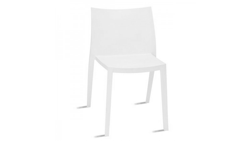Chaise design de cuisine sandy en polypropyl ne blanc gdegdesign - Chaise moderne blanche ...