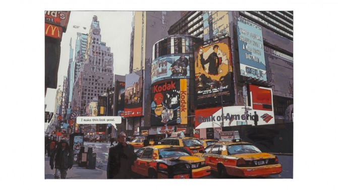Toile tendance colorée Time Square - New York