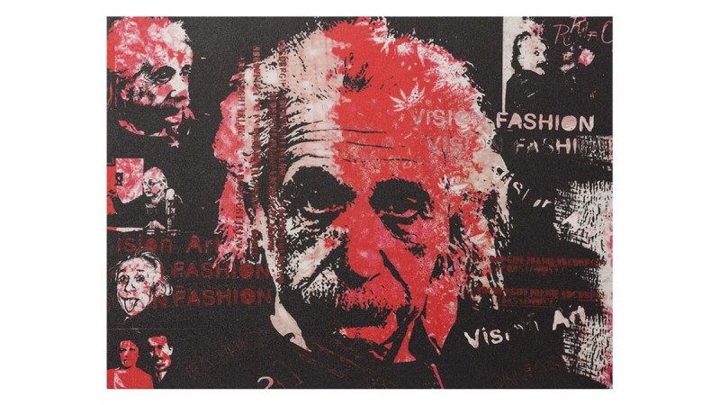 peinture design portrait albert einstein pula gdegdesign. Black Bedroom Furniture Sets. Home Design Ideas