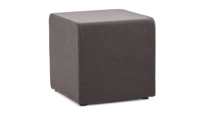 pouf de salon design en tissu gris fonc oliver gdegdesign. Black Bedroom Furniture Sets. Home Design Ideas