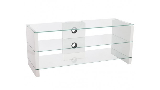Meuble TV design laqué blanc - Willmar