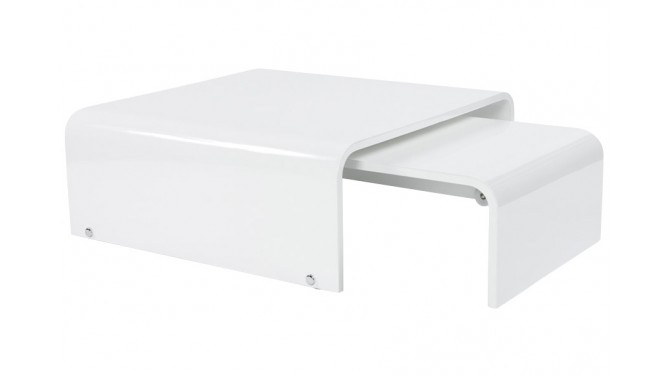 Table basse laquée blanche extensible - Star