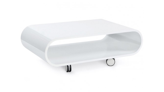 Table de salon design blanche - Pratt