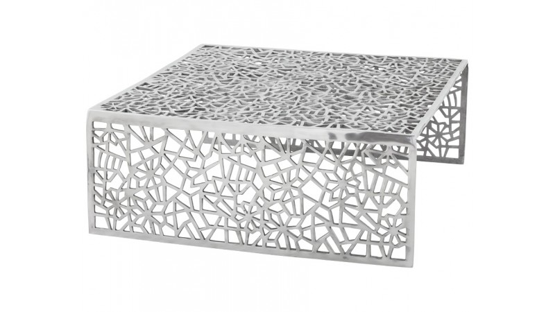 table basse design grise en aluminium poli clive gdegdesign. Black Bedroom Furniture Sets. Home Design Ideas