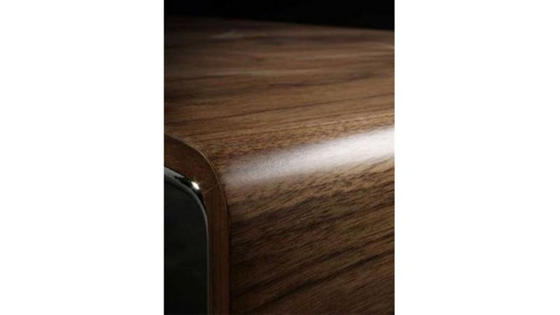 Table basse originale et moderne placage noyer atoka - Couleur salon moderne ...