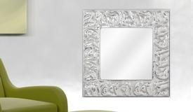 Miroir moderne carré en aluminium poli - Irvine