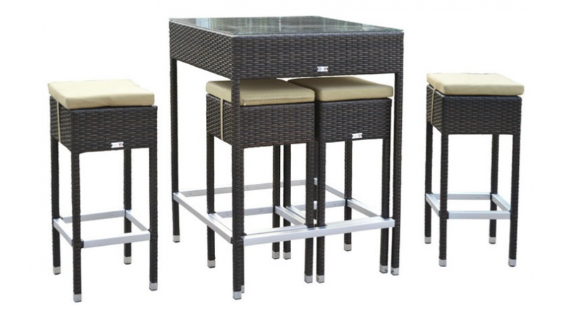 Ensemble De Jardin 4 Tabourets Table Haute Mesa Gdegdesign