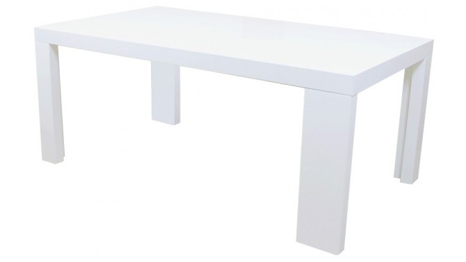 Table d ner rectangle aryan en bois mdf finition laqu e - Table a manger blanche laquee ...