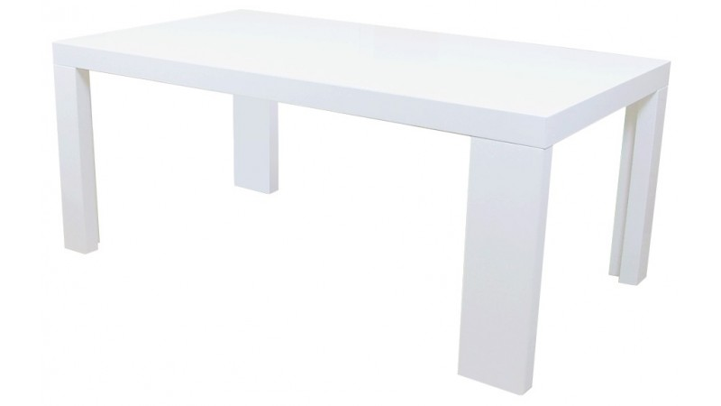 Table d ner rectangle aryan en bois mdf finition laqu e for Table laquee blanche