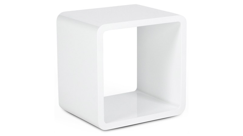 fabulous table duappoint ou chevet cube with chevet suspendu blanc. Black Bedroom Furniture Sets. Home Design Ideas