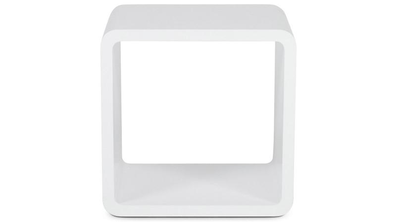 Chevet design cube ou table d 39 appoint laqu e acton - Table de chevet cube ...