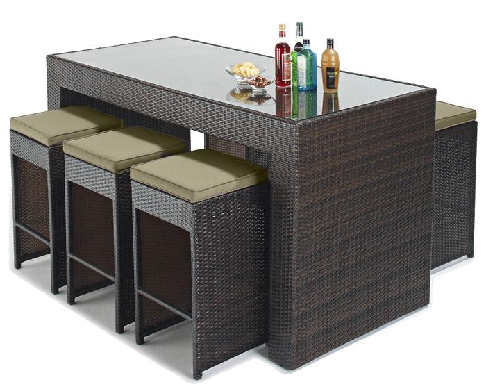 bar d exterieur bar de jardin moderne en polyrotin. Black Bedroom Furniture Sets. Home Design Ideas