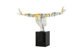 Statue design athlète multicolore - Scott