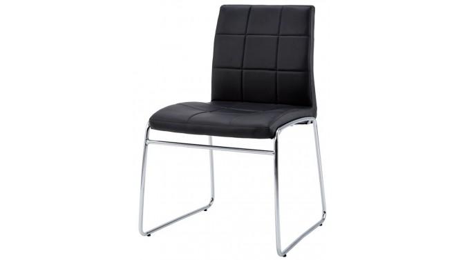 Chaise en cuir simili matelassé - Marbeul