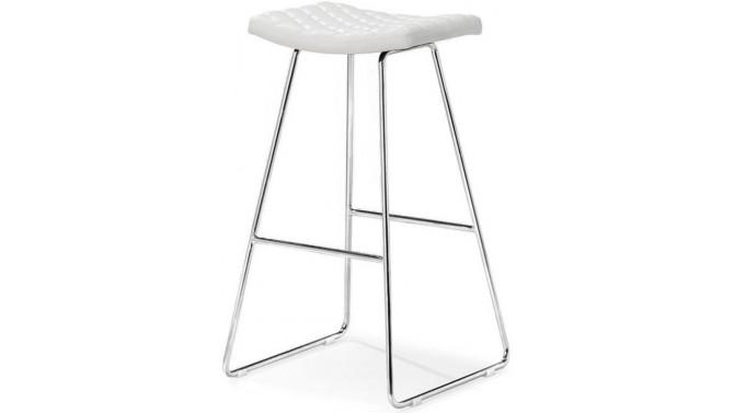 Tabouret ou chaise haute en simili cuir matelassé - Cyra