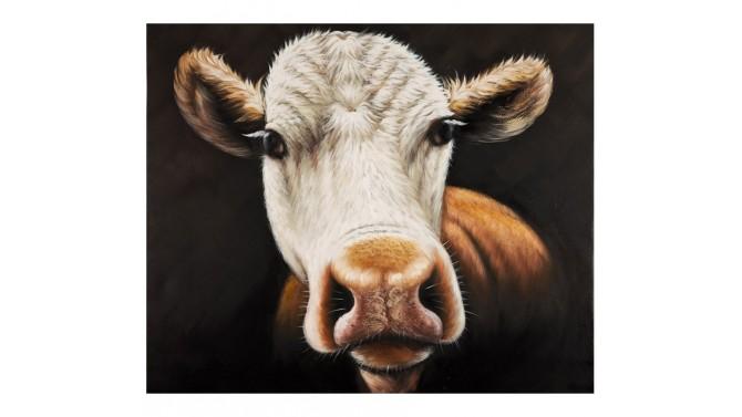Tableau design vache peint à la main - April