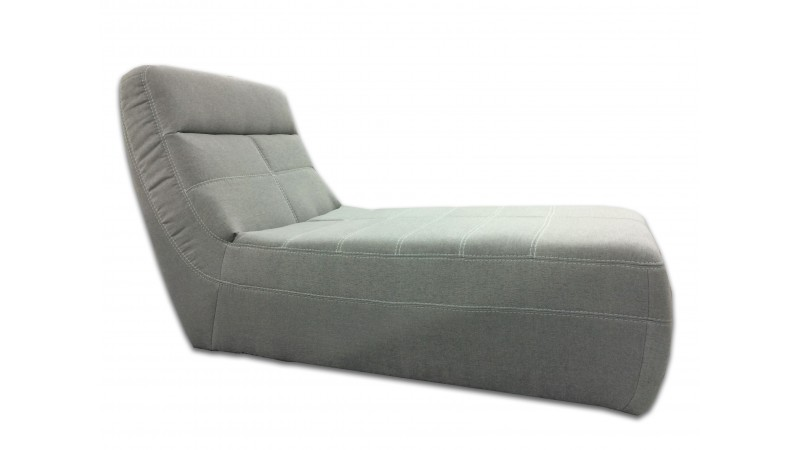 Chaise longue design relax de salon en tissu osaka for Chaise pour salon