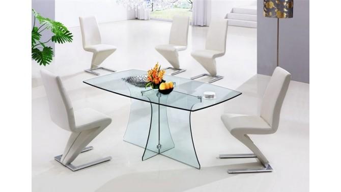 table a manger design avec plateau et pieds en verre bastianjpg - Table De Salle A Manger Industriel2928