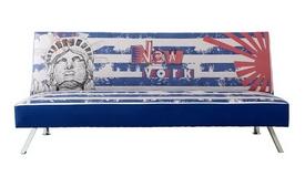 Banquette convertible bleue décoration New York - William