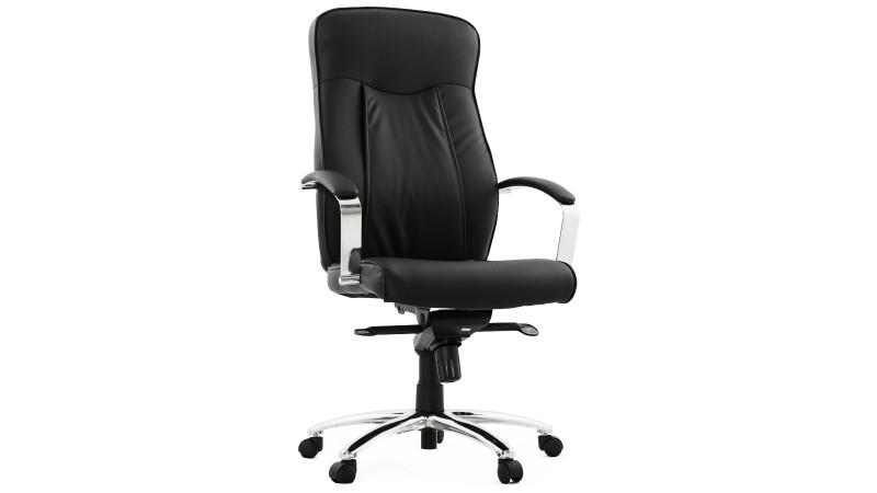 fauteuil de bureau design en simili cuir noir gdegdesign. Black Bedroom Furniture Sets. Home Design Ideas