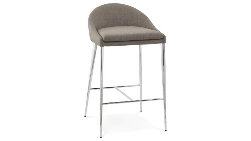 tabouret de bar snack chaise haute grise 67 cm kimo. Black Bedroom Furniture Sets. Home Design Ideas