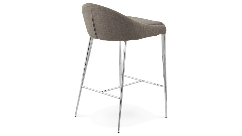 Tabouret de bar snack chaise haute grise 67 cm kimo gdegdesign - Tabouret de bar tissu ...