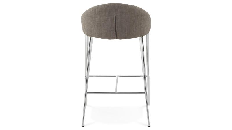 Tabouret de bar snack chaise haute grise 67 cm kimo - Tabouret de bar hauteur 60 cm ...