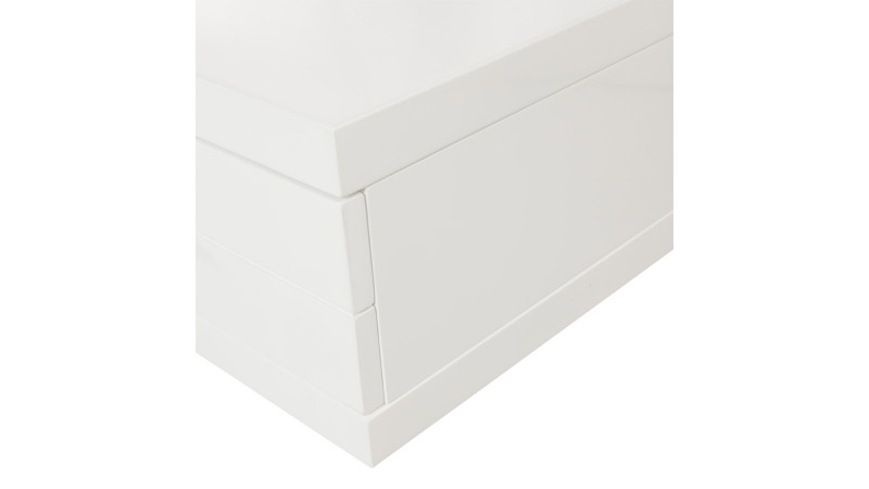 meuble t l vision banc tv design blanc 200 cm dario. Black Bedroom Furniture Sets. Home Design Ideas