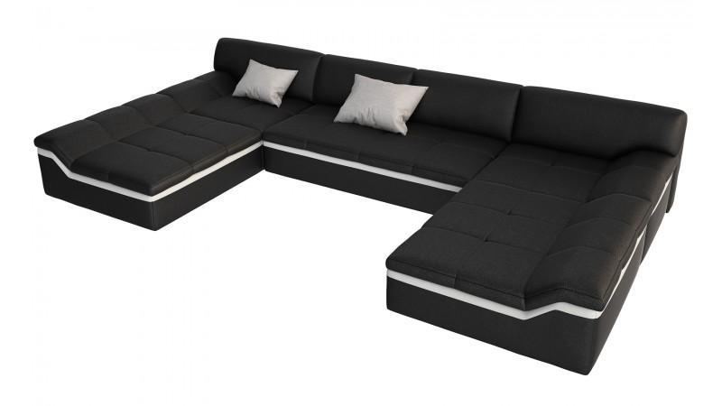 Chaise de table simili cuir coloris noir 00 orleans d coration for Table basse carre design blanc et noir saint denis