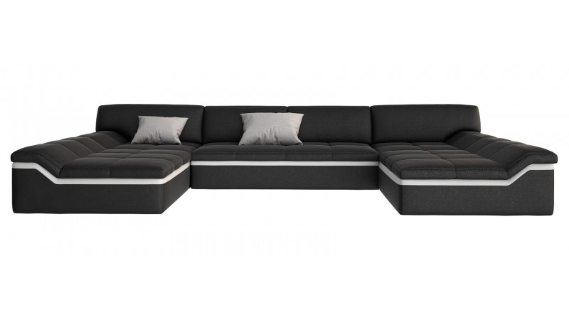 Canapé design panoramique en cuir Dorog  GdeGdesign