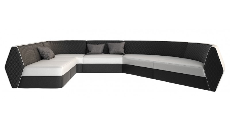 canap d 39 angle panoramique design en similicuir bram gdegdesign. Black Bedroom Furniture Sets. Home Design Ideas