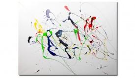 Tableau moderne multicolore aux lignes uniques - Horacio