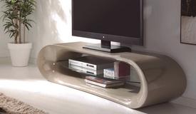Meuble TV 160 cm avec étagère verre - Larson