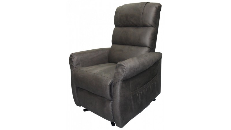 fauteuil de relaxation releveur lectrique theo en tissu nubuck gdegdesign. Black Bedroom Furniture Sets. Home Design Ideas