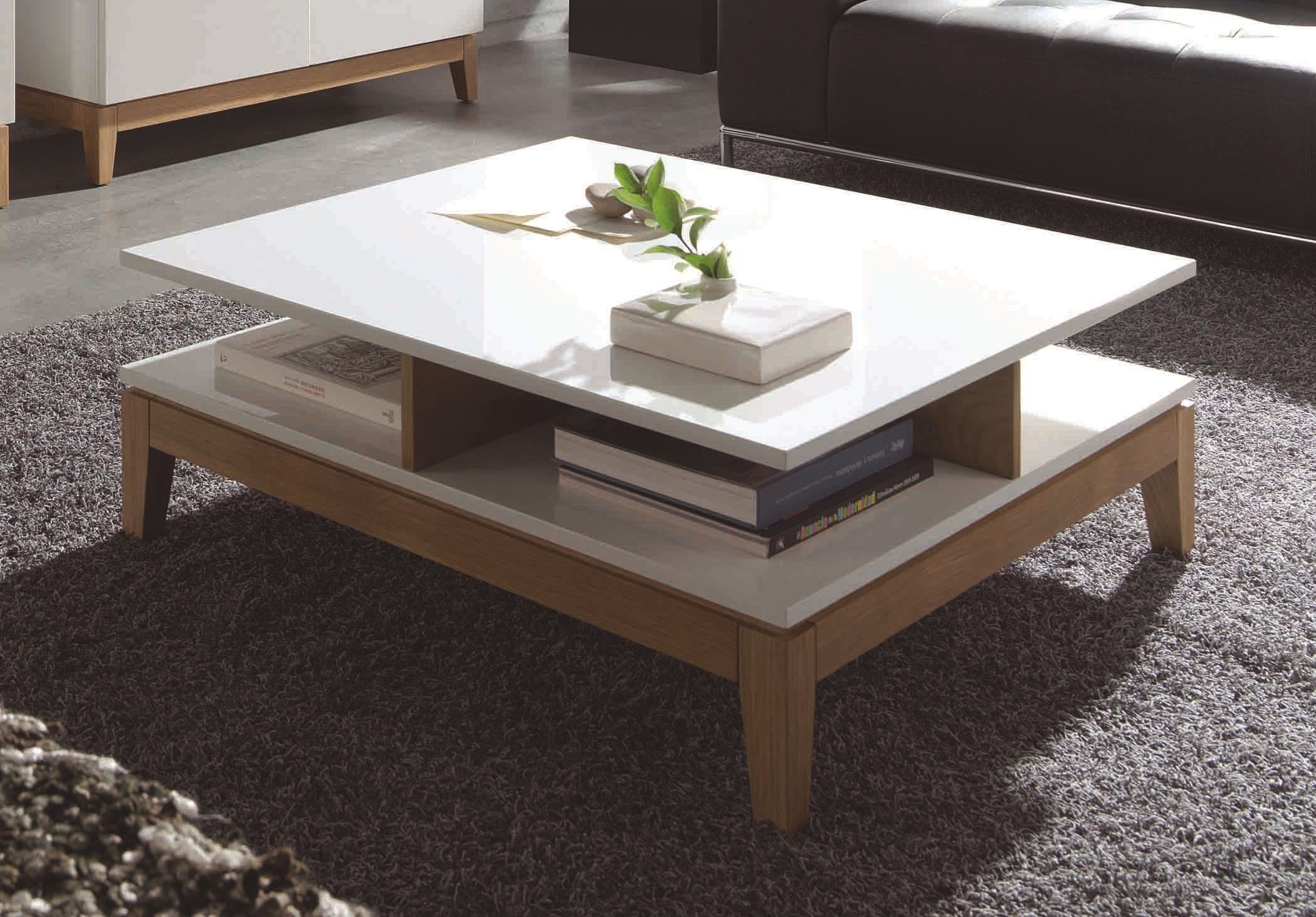 table basse blanche en bois fabulous table basse blanche myley tiroir pivotant with table basse. Black Bedroom Furniture Sets. Home Design Ideas