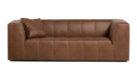 canap 3 places design industriel en simili cuir graham. Black Bedroom Furniture Sets. Home Design Ideas