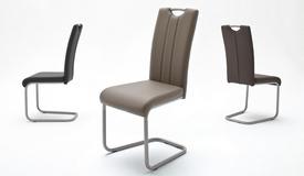 Chaise de salle manger moderne fuko tapiss e de simili for Chaise simili cuir blanche