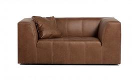 Canapé 2 places simili cuir vintage - Graham